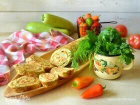 Рулет из цукини с овощной начинкой