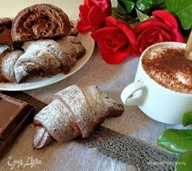 Шоколадные круассаны с начинкой