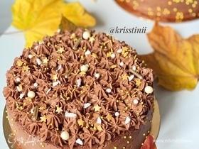 Мегашоколадный торт с ягодной начинкой